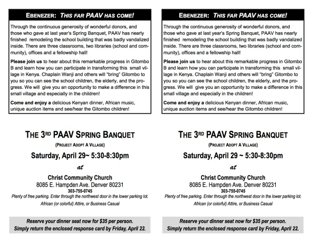 PAAV Banquet Invitation card April 29 2017 2